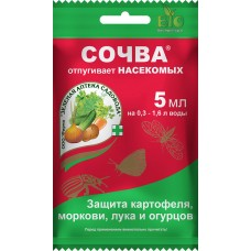 Сочва защита картофеля, огурцов,моркови,лука(отпугивает насекомых) 5мл (150шт) зас