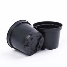 Горшок д/рассады круг 14х10,6 (V 1л)черный литой (75шт)А