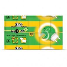 Пластины от комаров NADZOR без запаха (10шт/уп) (200шт)