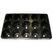 Рассадная кассета 15 ячеек круг (Vяч 475мл)(п/м)(80шт)